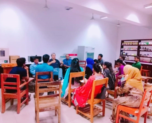 ectures and students meeting at Hajee Mohammad Danesh Science & Technology University